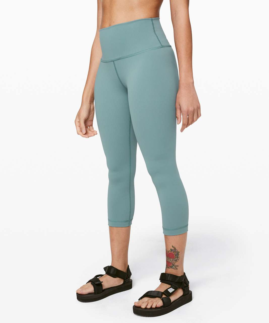 "Lululemon Wunder Under Crop (High-Rise) *Full-On Luxtreme 21"" - Aquatic Green"