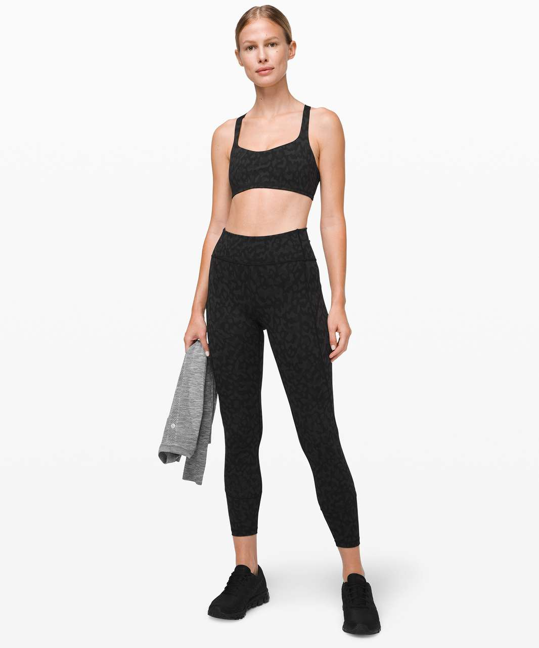 Lululemon Free To Be Bra - Formation Camo Deep Coal Multi