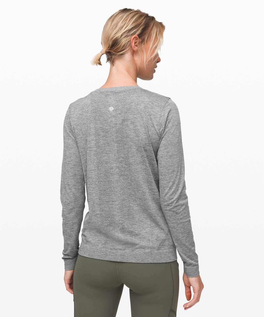 Lululemon Swiftly Relaxed Long Sleeve - Slate / White