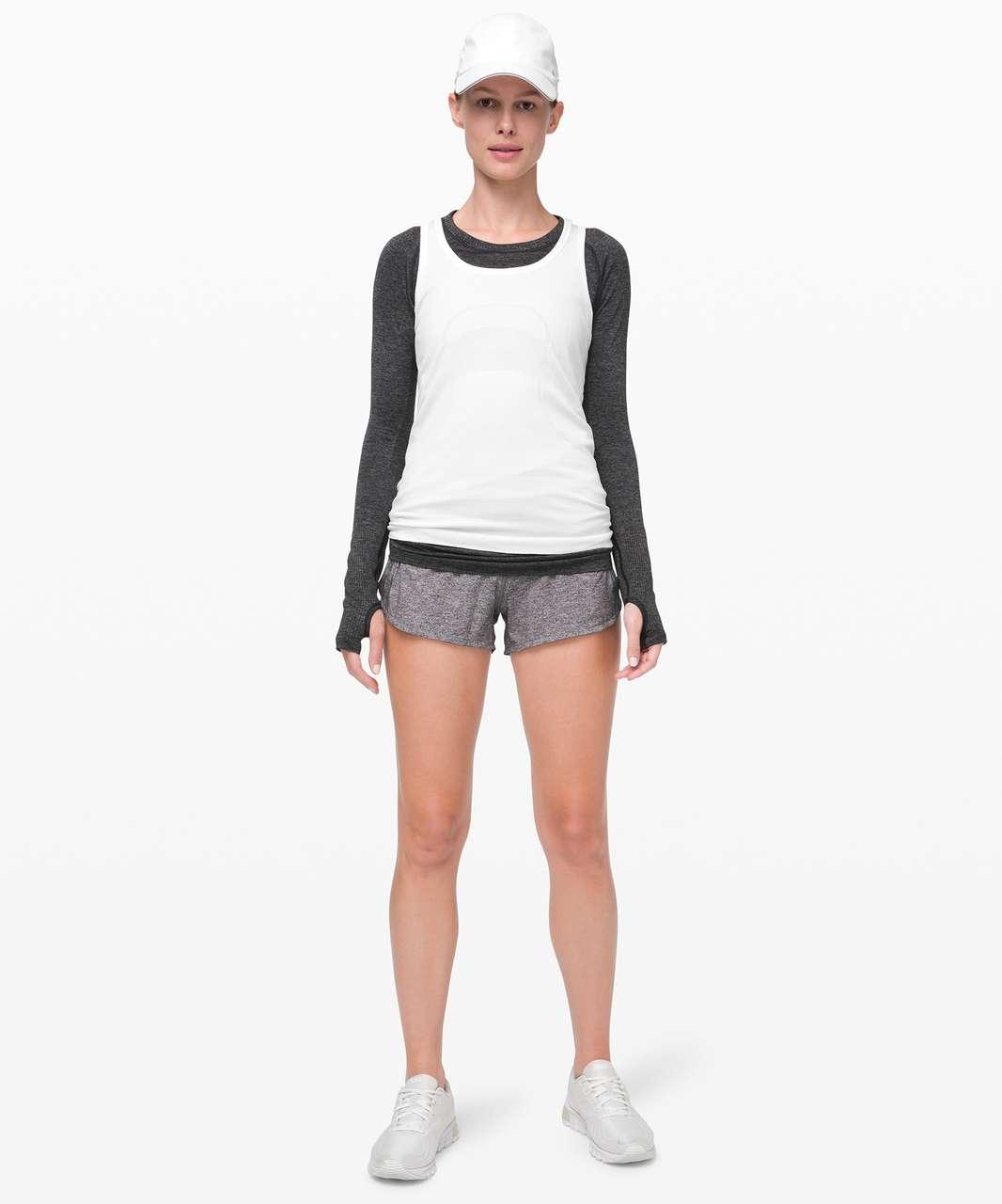 """Lululemon Speed Up Short 2.5"""" *Linerless - Heather Lux Multi Black / Black"""