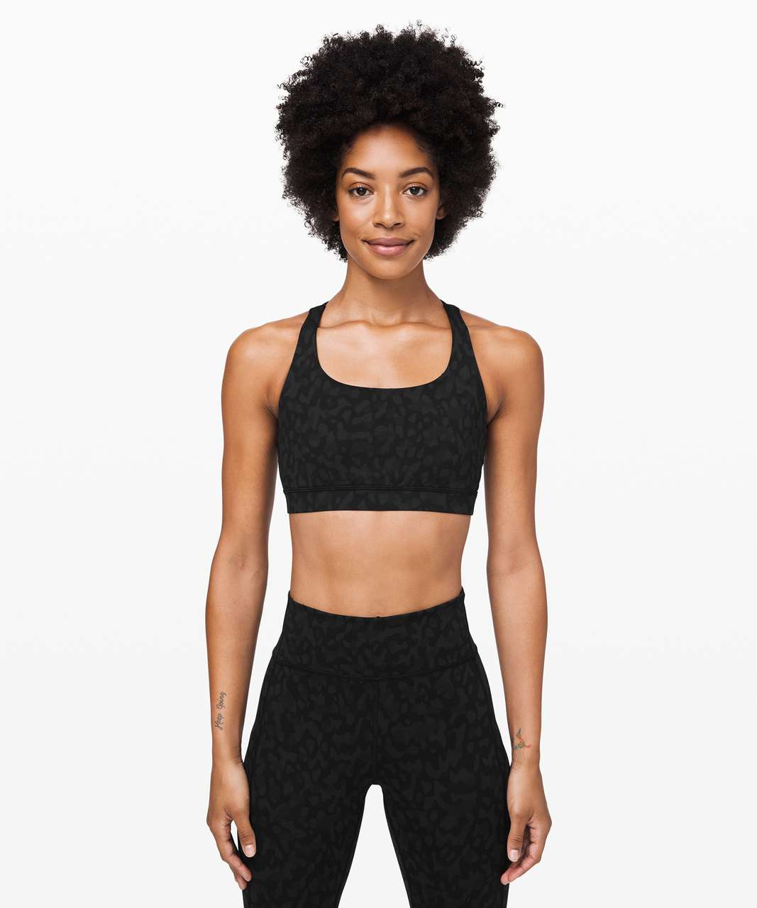 Lululemon Energy Bra - Formation Camo Deep Coal Multi