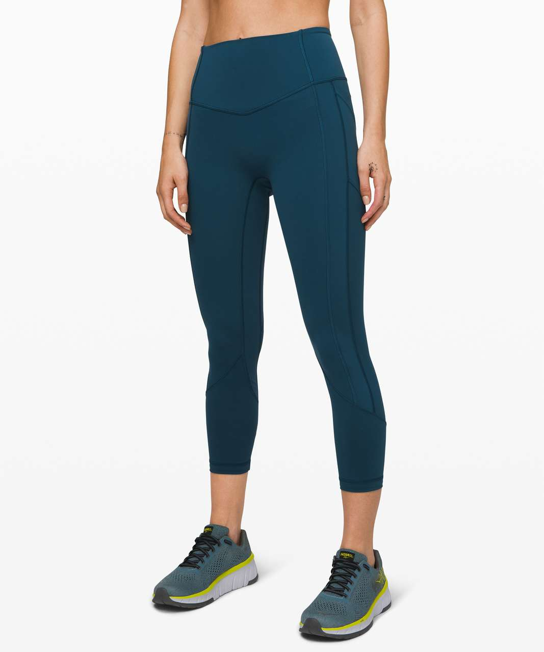 """Lululemon All The Right Places Crop II *23"""" - Night Diver"""