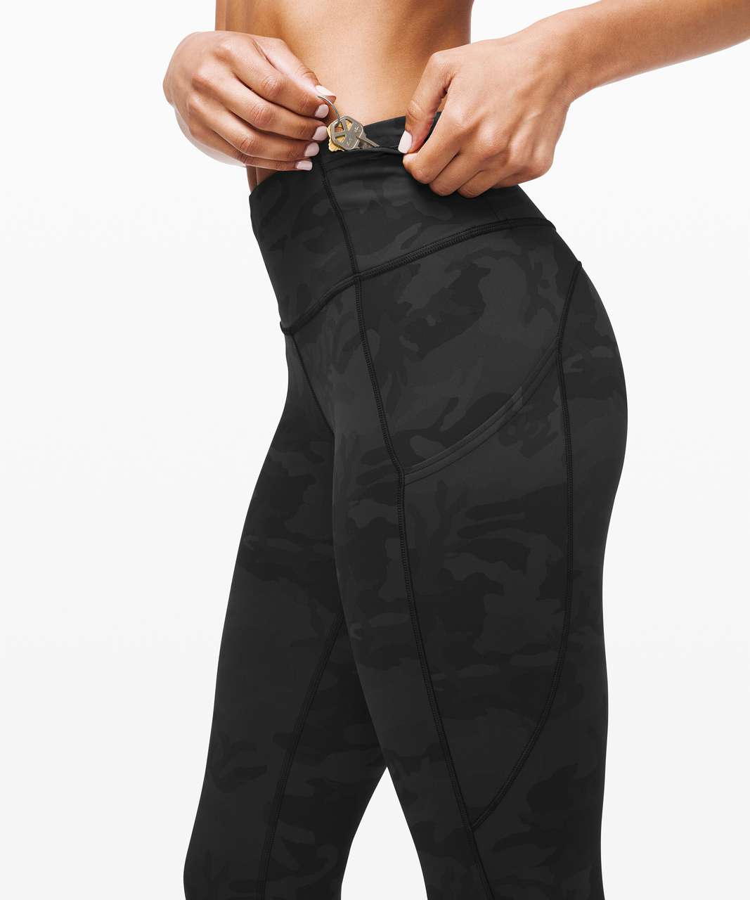 "Lululemon Fast and Free Tight II 25"" *Non-Reflective Nulux - Incognito Camo Multi Grey"