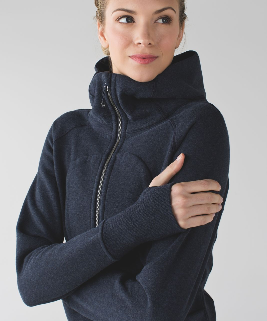 durable in use great varieties quality first Lululemon Scuba Hoodie *Classic Cotton Fleece - Heathered Naval Blue