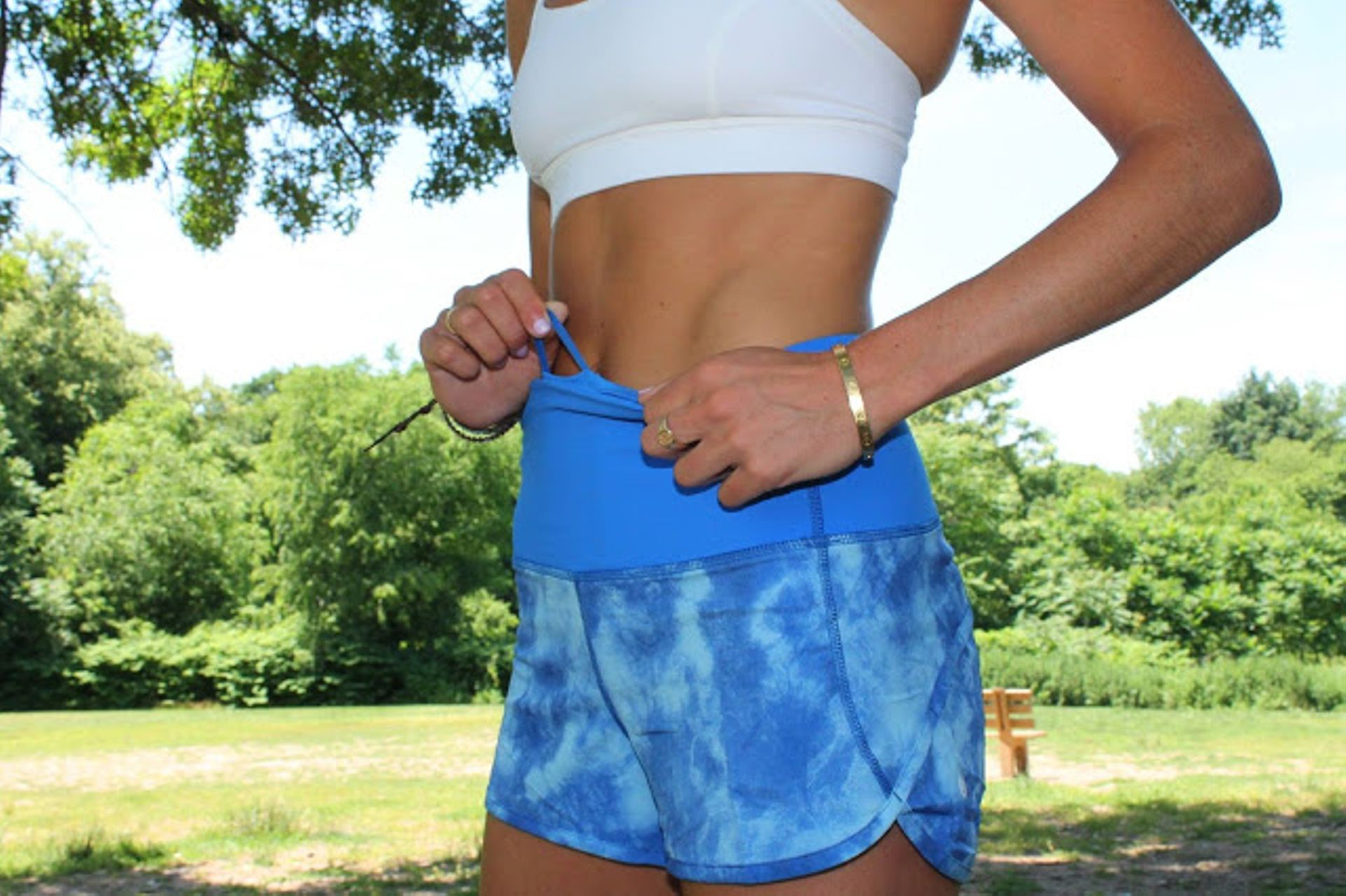 Lululemon Speed Short (High Waist) - Tidal Trip Pipe Dream Blue / Pipe Dream Blue