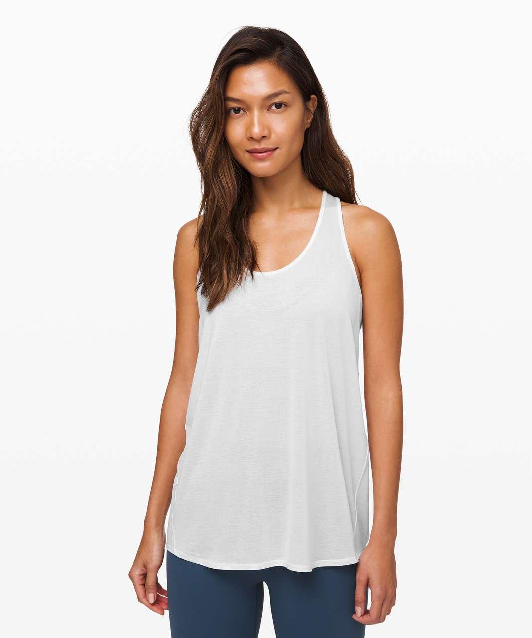 Lululemon Essential Tank Pleated *Jersey - White