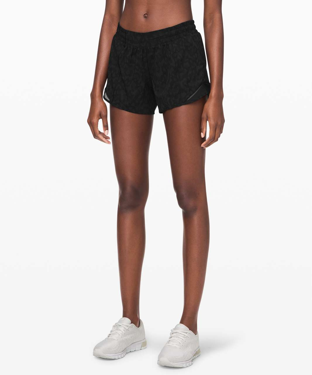 "Lululemon Hotty Hot Short II *Long 4"" - Formation Camo Deep Coal Multi  / Black"