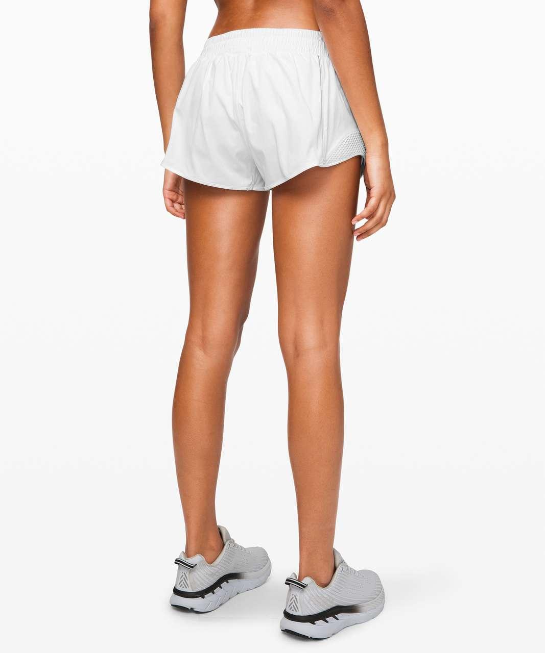 """Lululemon Hotty Hot Short (Reflective) *2.5"""" - White"""
