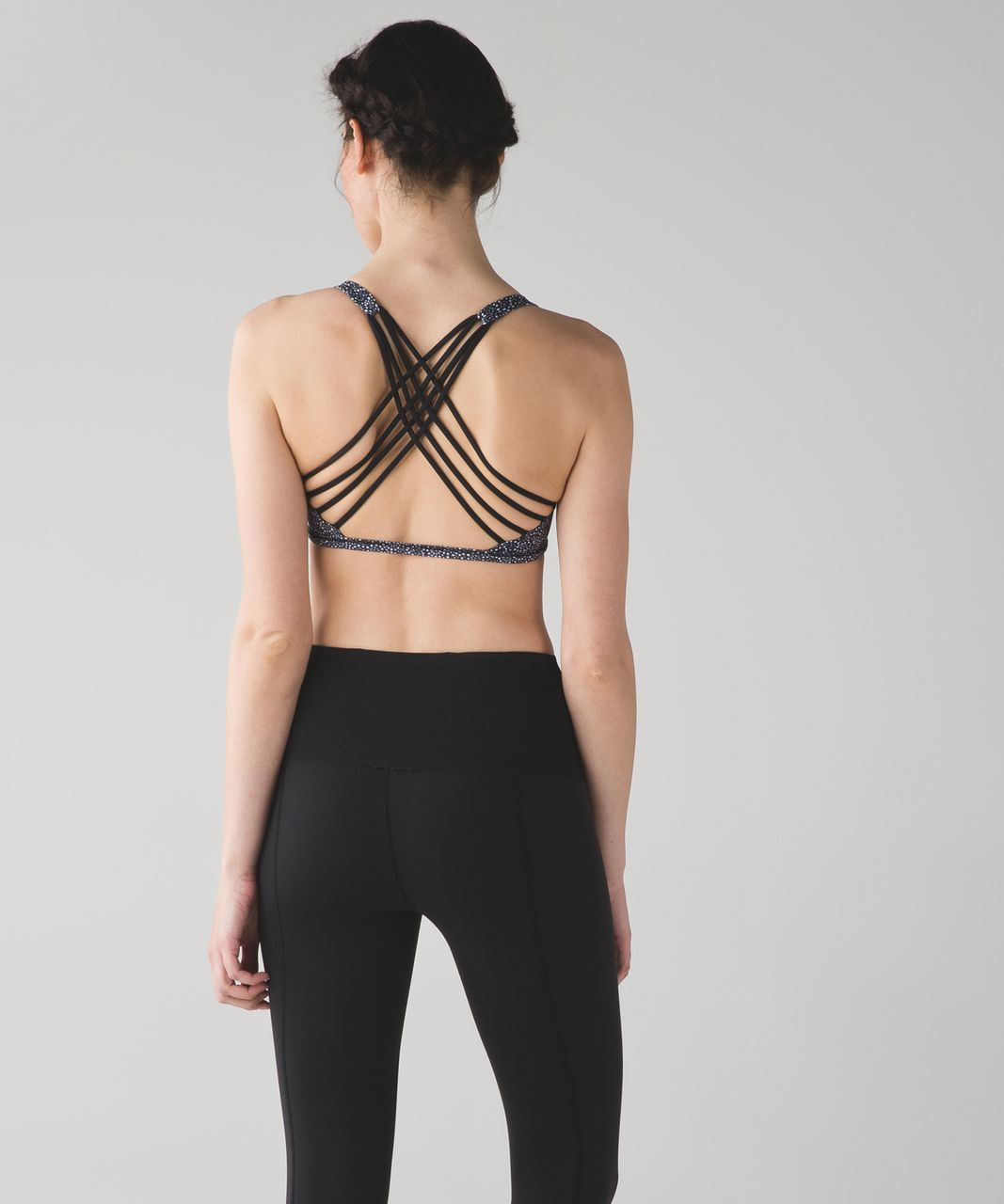 Lululemon Free To Be Bra (Wild) - Freckle Flower Black White / Black
