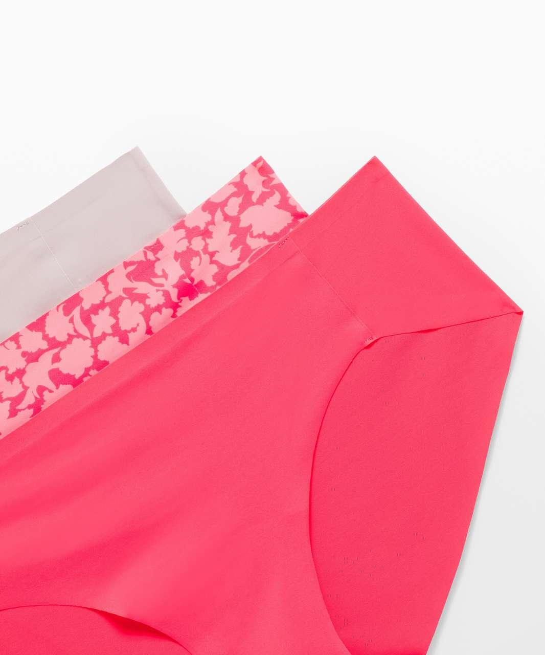 Lululemon Namastay Put Hipster 3 Pack - Heartthrob / Silhouette Floral Pink Lemonade Heartthrob / Smoky Blush
