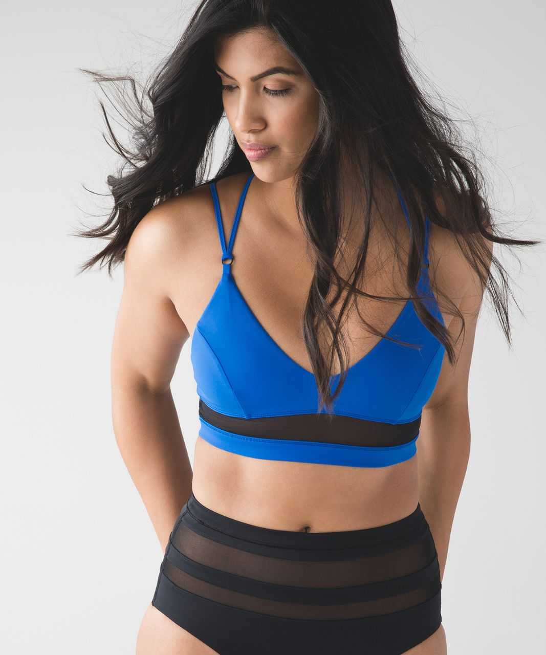 Lululemon Go With The Flow Top - Pipe Dream Blue / Black