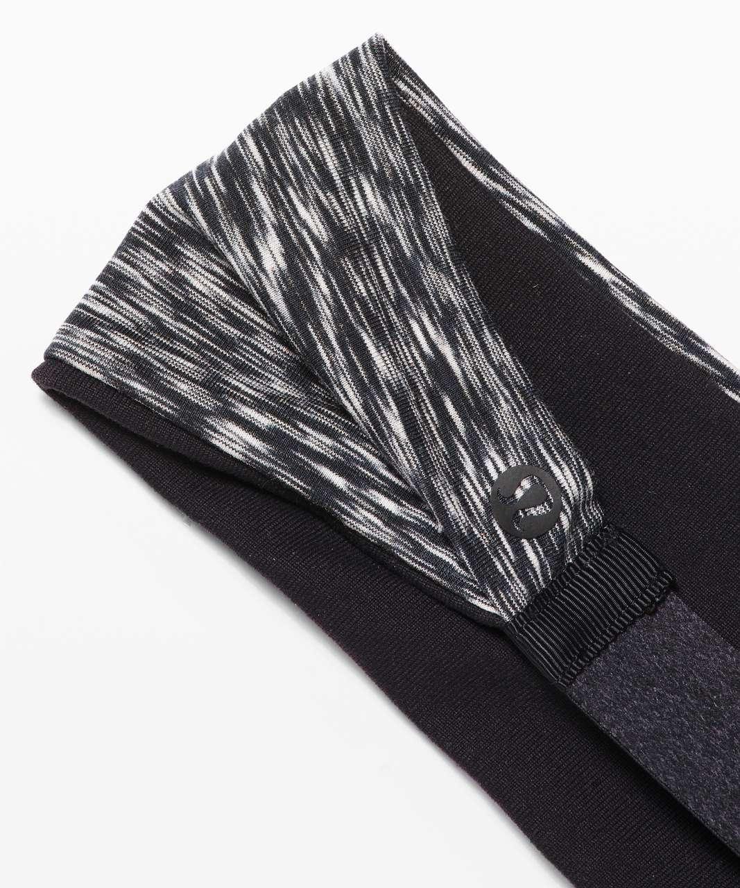 Lululemon Fringe Fighter Headband - Black / Spaced Out Space Dye Black White