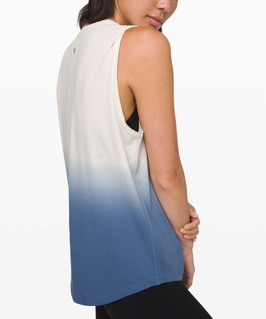 Lululemon Brunswick Muscle Tank *Dip Dye - Light Ivory / Tempest Blue
