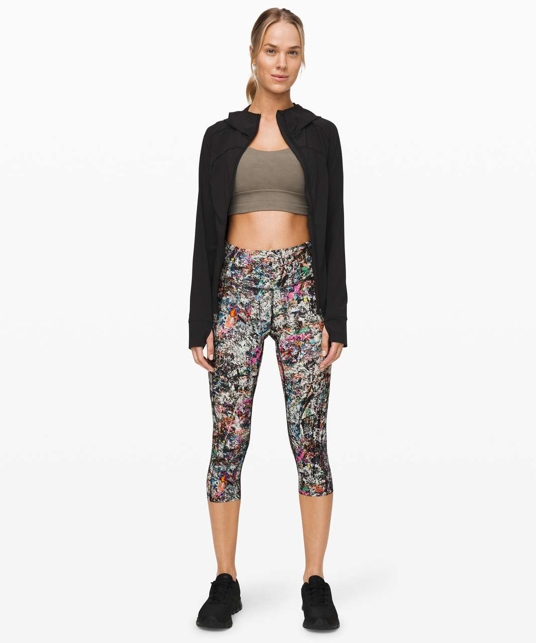 "Lululemon Fast and Free Crop II 19"" *Nulux - Vitalize Multi"