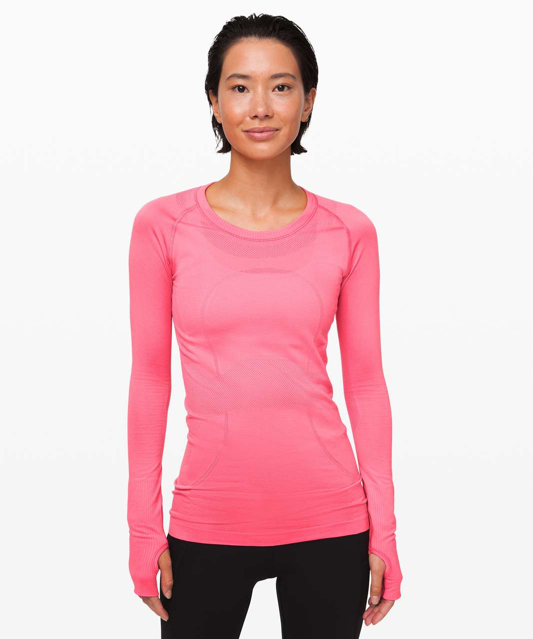 Lululemon Swiftly Tech Long Sleeve Crew - Heartthrob / Heartthrob