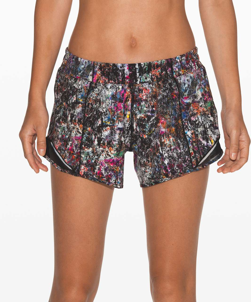 "Lululemon Hotty Hot Short II *Long 4"" - Vitalize Multi / Black"