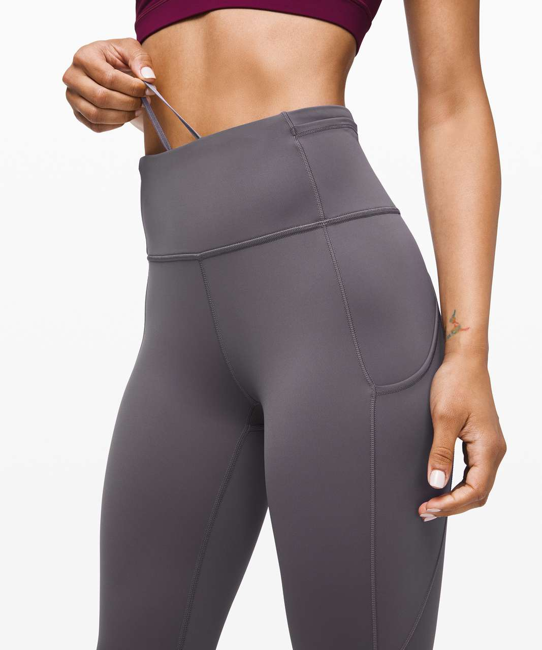 """Lululemon Fast and Free Tight II 25"""" *Non-Reflective Nulux - Titanium"""
