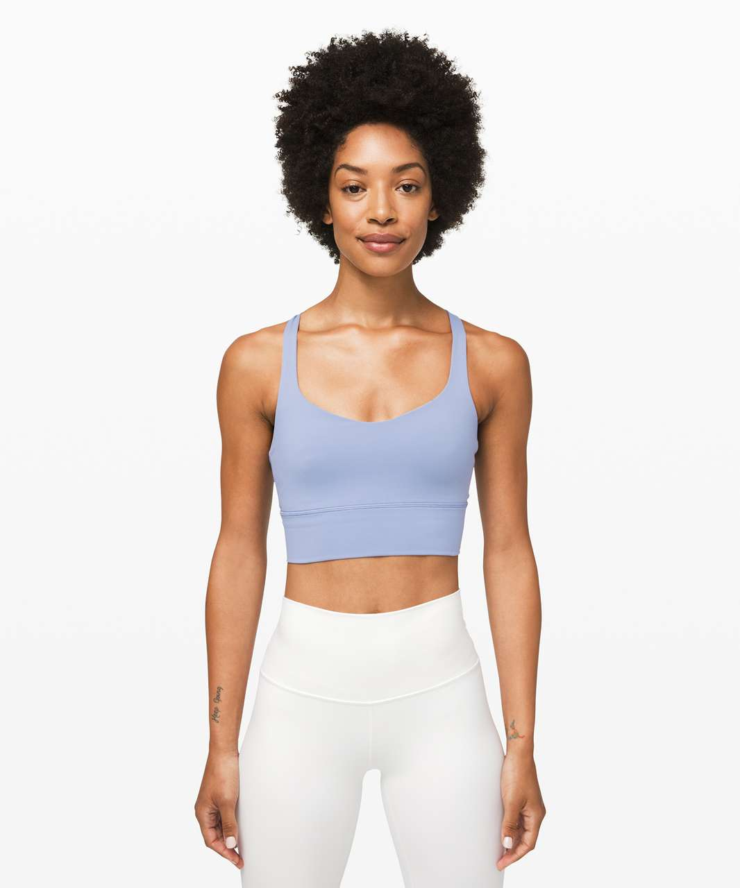 Lululemon Free To Be Bra *Long Line - Tempest Blue / Almost Blue