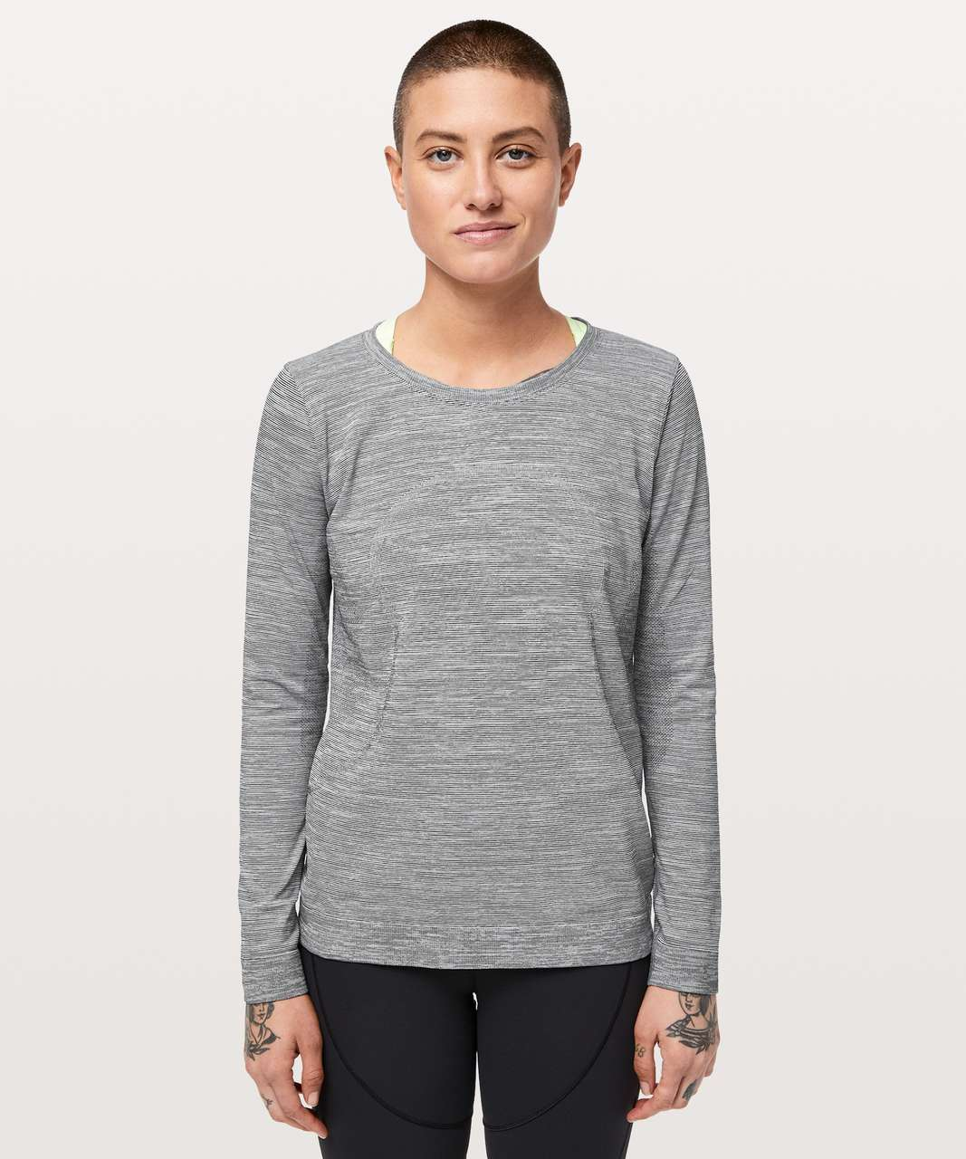 Lululemon Swiftly Tech Long Sleeve (Breeze) *Relaxed Fit - White / White / Black