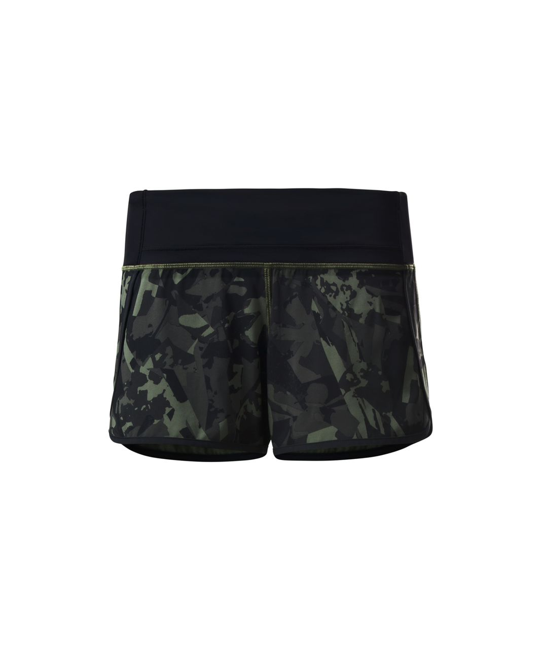Lululemon Run Times Short (4-way Stretch) - Pop Cut Fatigue Green Black / Black