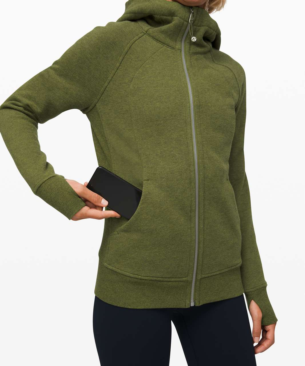 Lululemon Scuba Hoodie *Light Cotton Fleece - Heathered Everglades