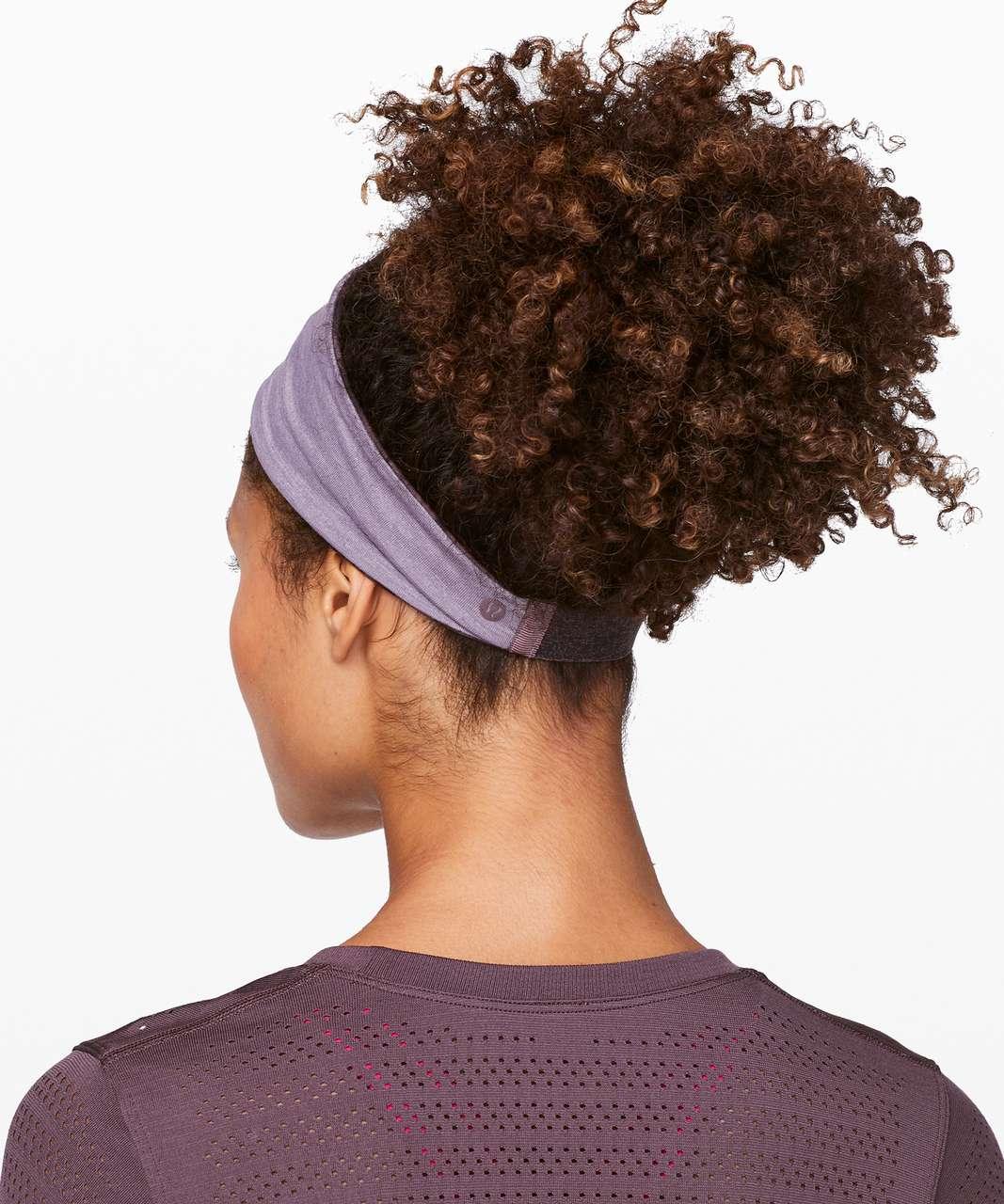 Lululemon Fringe Fighter Headband - Mini Dusk Floral Antique Bark Black / Heathered Smoky Blush