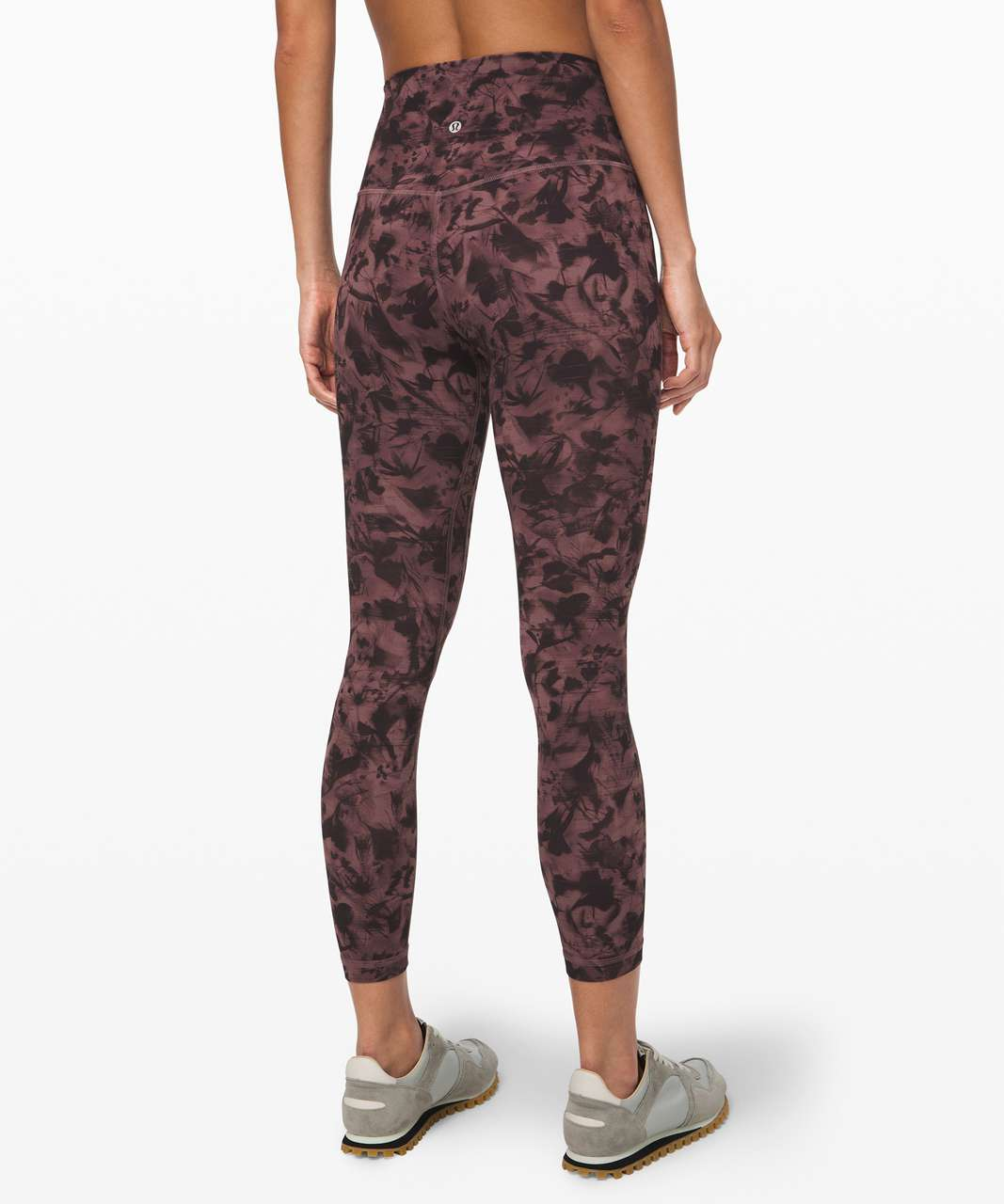 "Lululemon Align Pant II 25"" - Mini Dusk Floral Antique Bark Black"