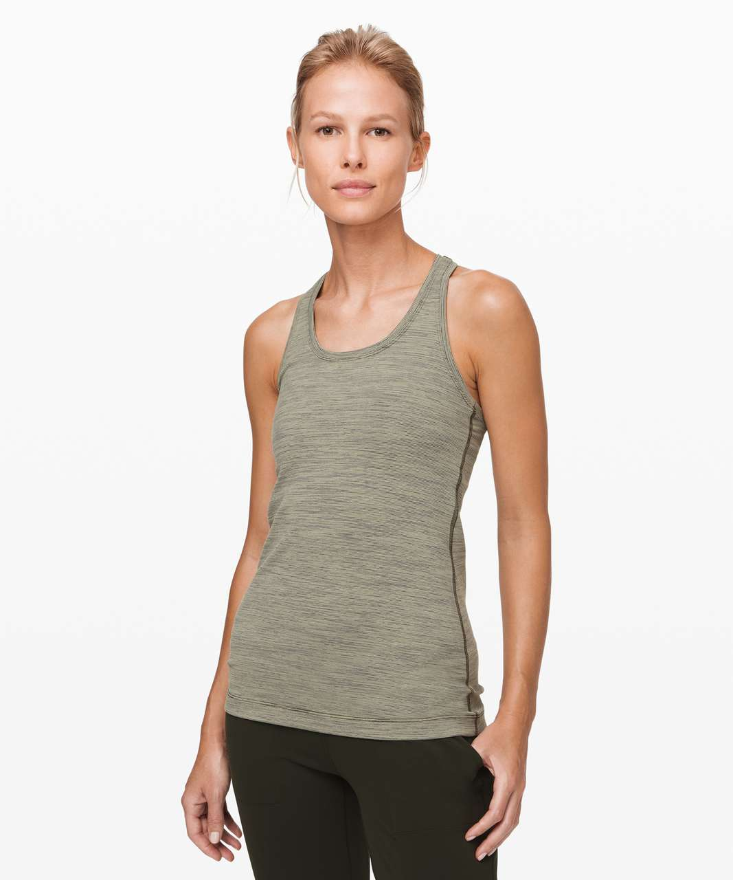 Lululemon Cool Racerback II - Wee Are From Space Sage Dark Olive