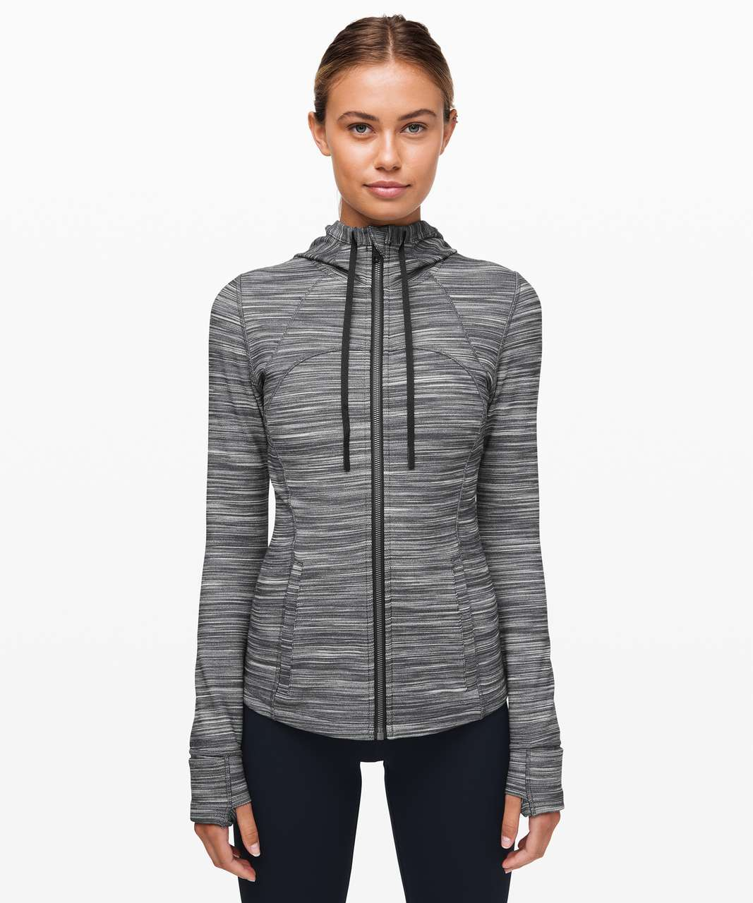 Lululemon Hooded Define Jacket *Nulu - Heathered Black / White / Black