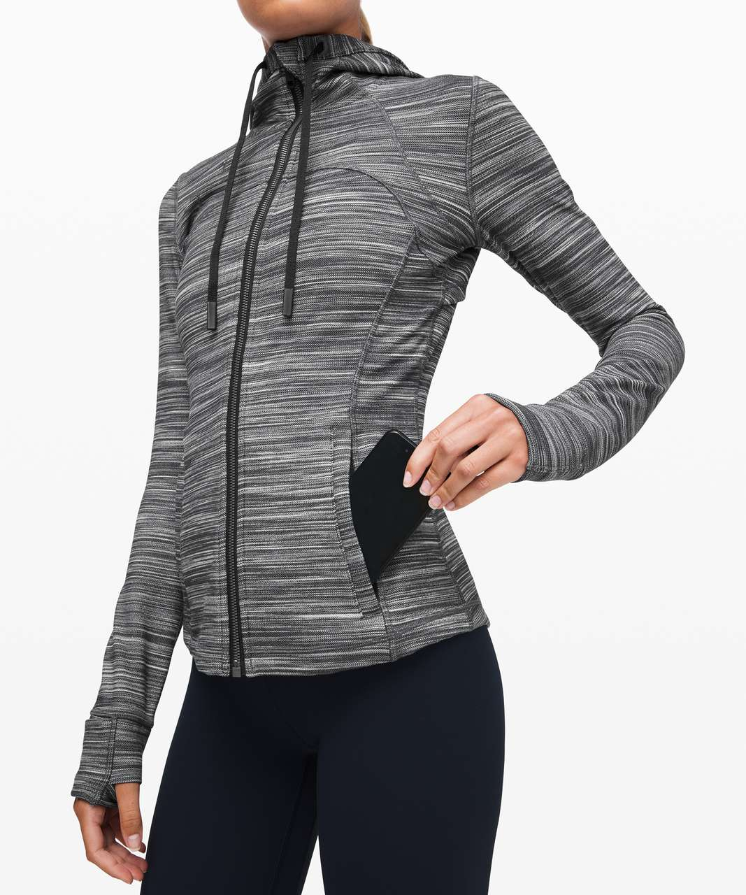 Lululemon Hooded Define Jacket *Nulu - Heathered Black / White / Black