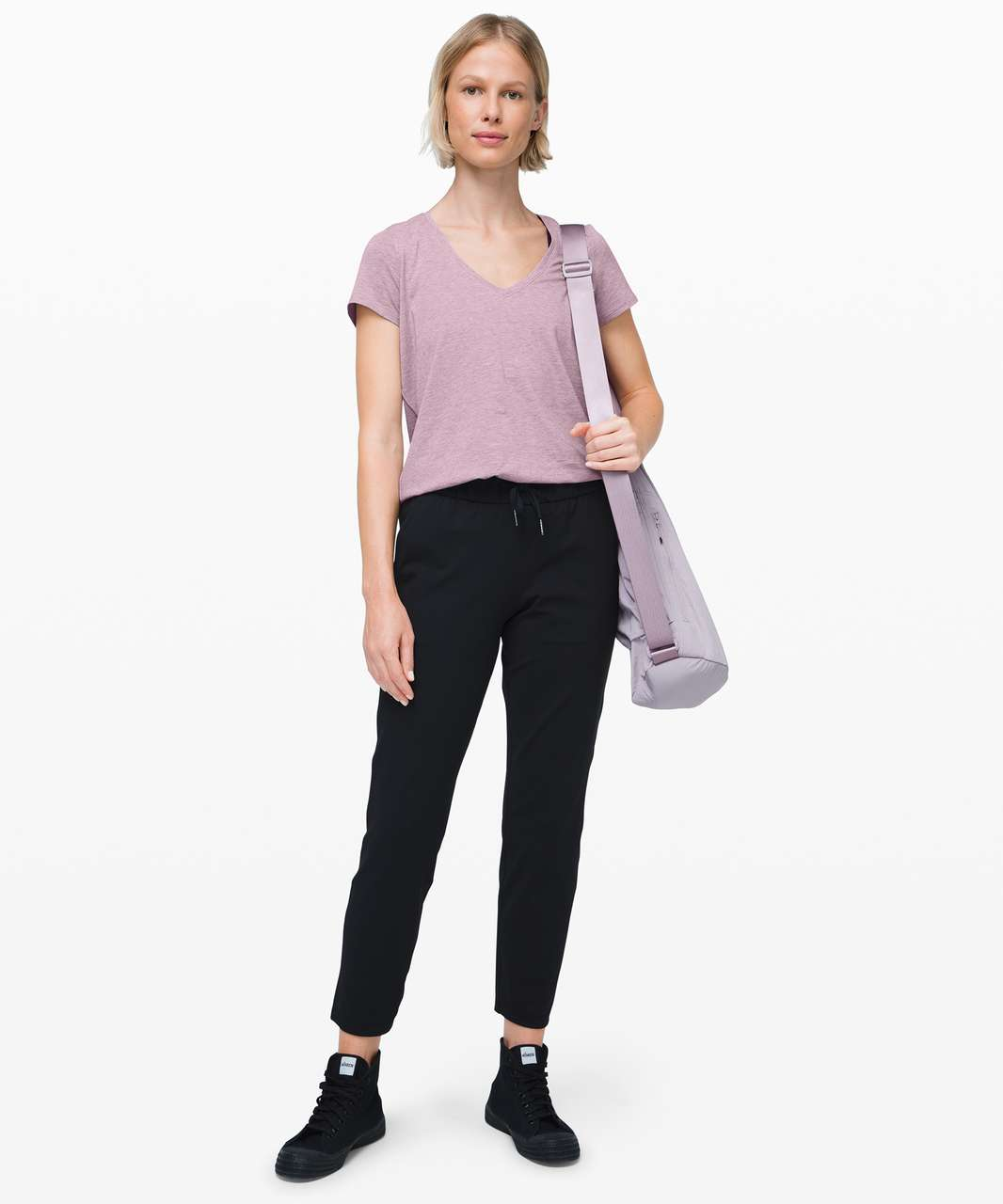 Lululemon Love Tee V - Heathered Frosted Mulberry