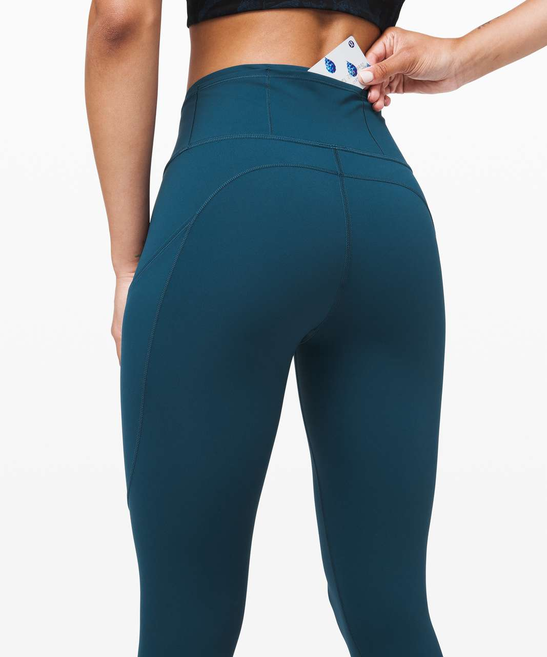 "Lululemon Fast and Free Tight II 25"" *Non-Reflective Nulux - Night Diver"
