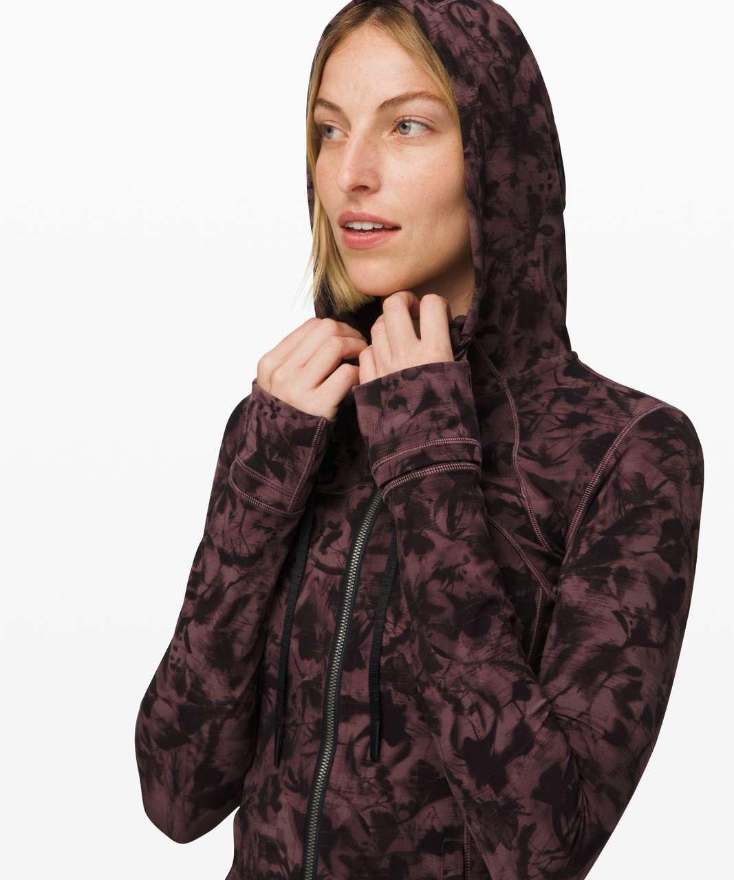 Lululemon Hooded Define Jacket *Nulu - Mini Dusk Floral Antique Bark Black