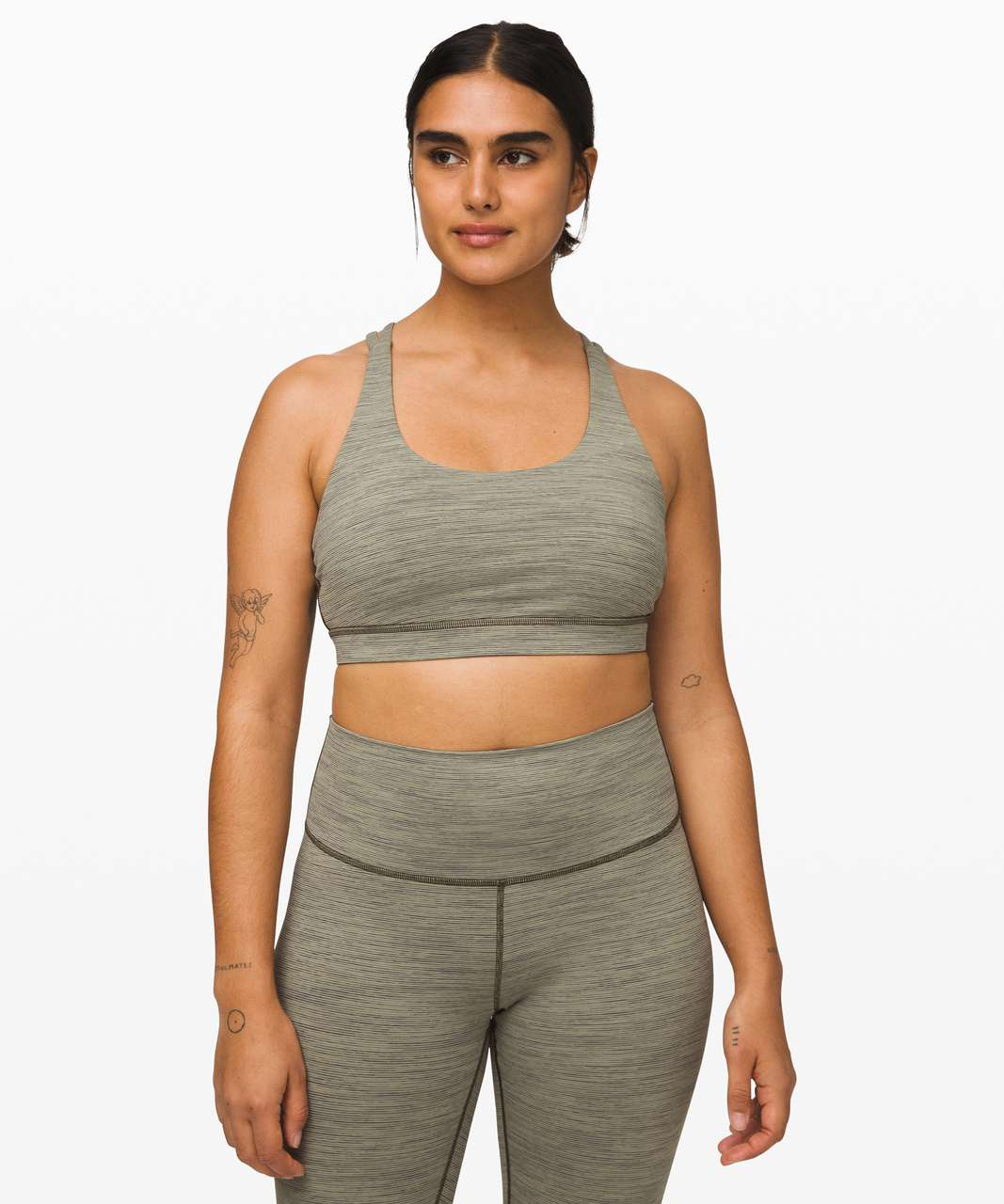 Lululemon Energy Bra - Wee Are From Space Sage Dark Olive