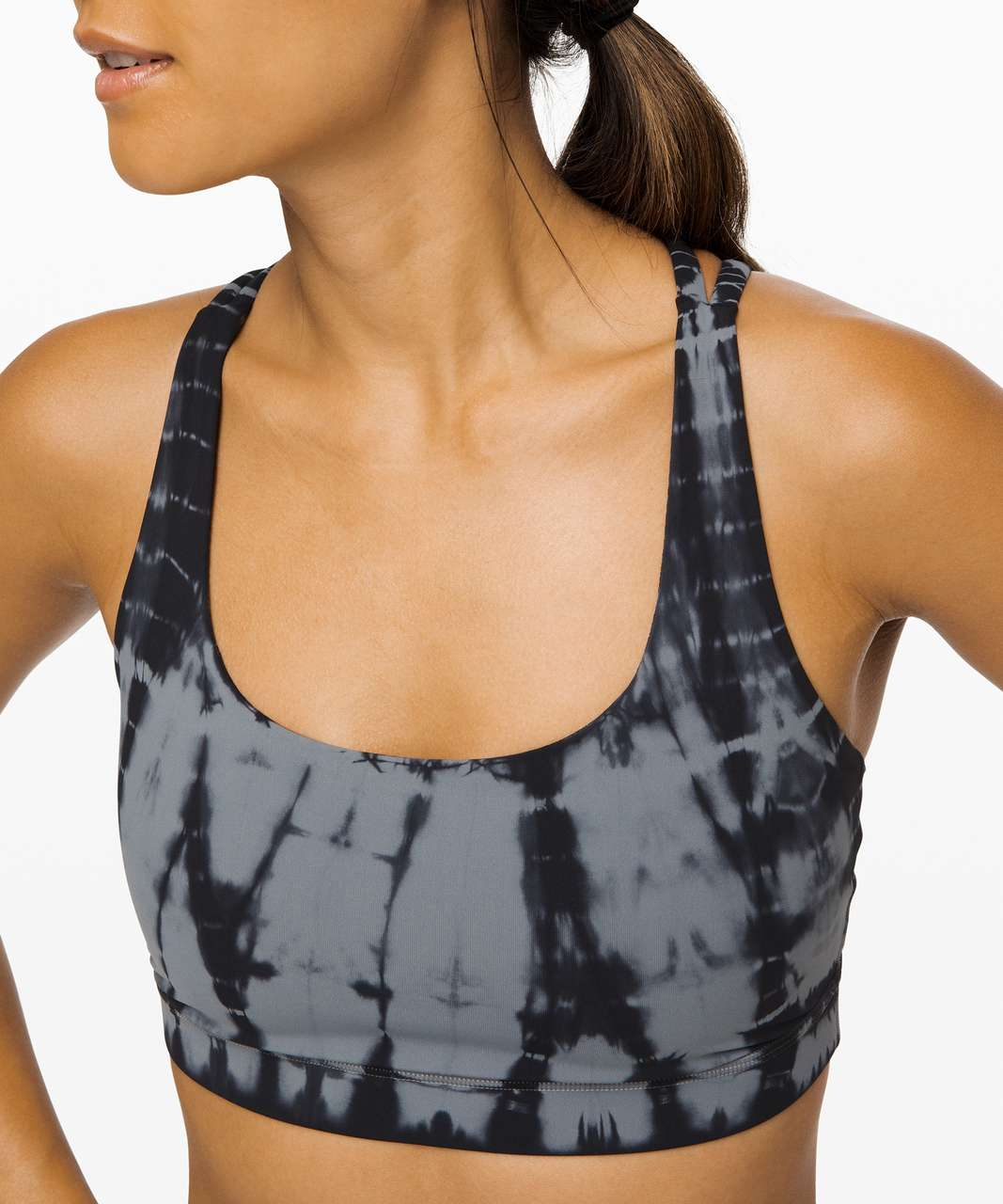 Lululemon Energy Bra - Vert Shibori Magnet Grey Black Night