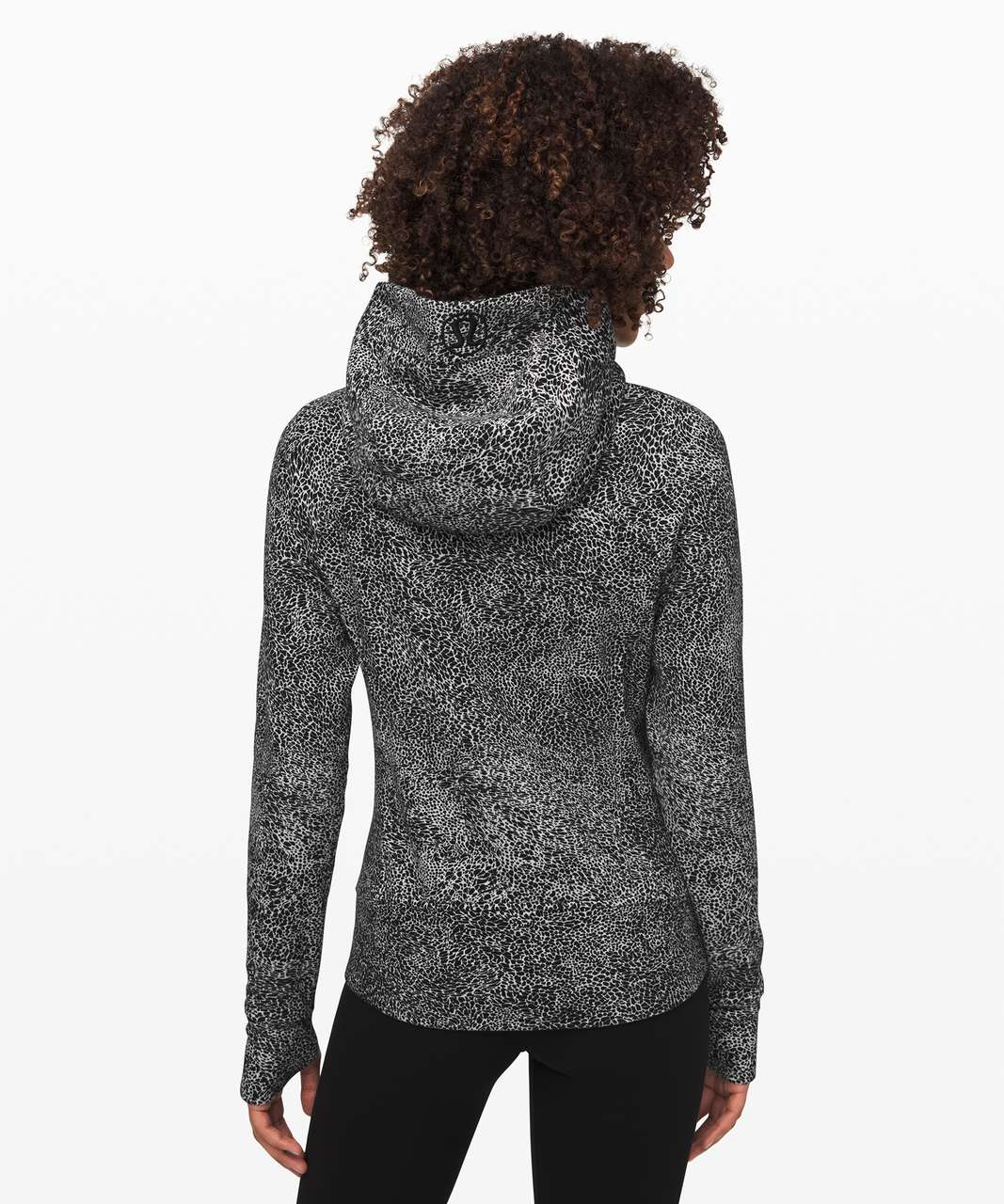 Lululemon Scuba Hoodie *Light Cotton Fleece - Polar Shift Inverse Alpine White Black