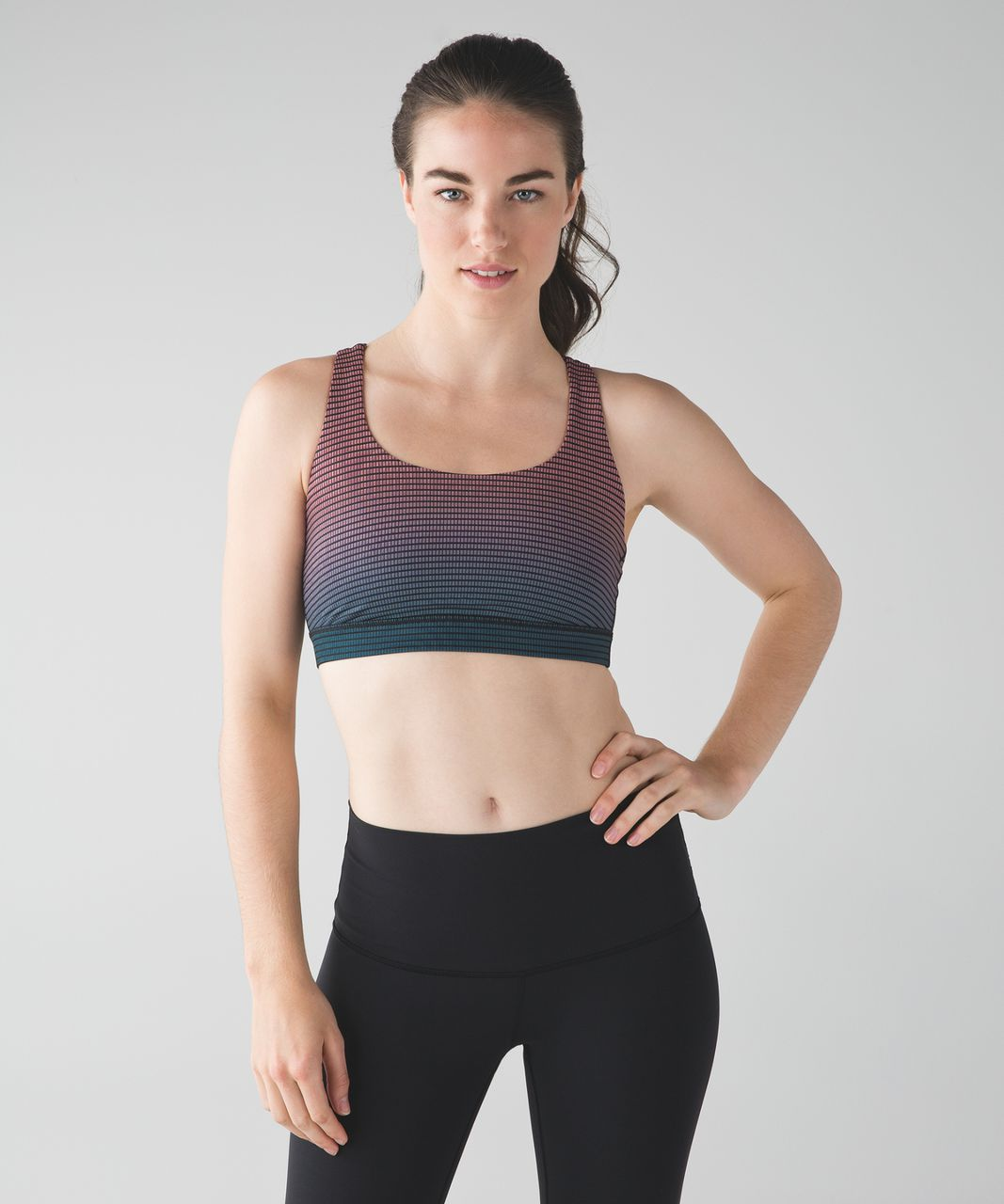 Lululemon Energy Bra - Double Gradient Yum Yum Pink Alberta Lake / Black