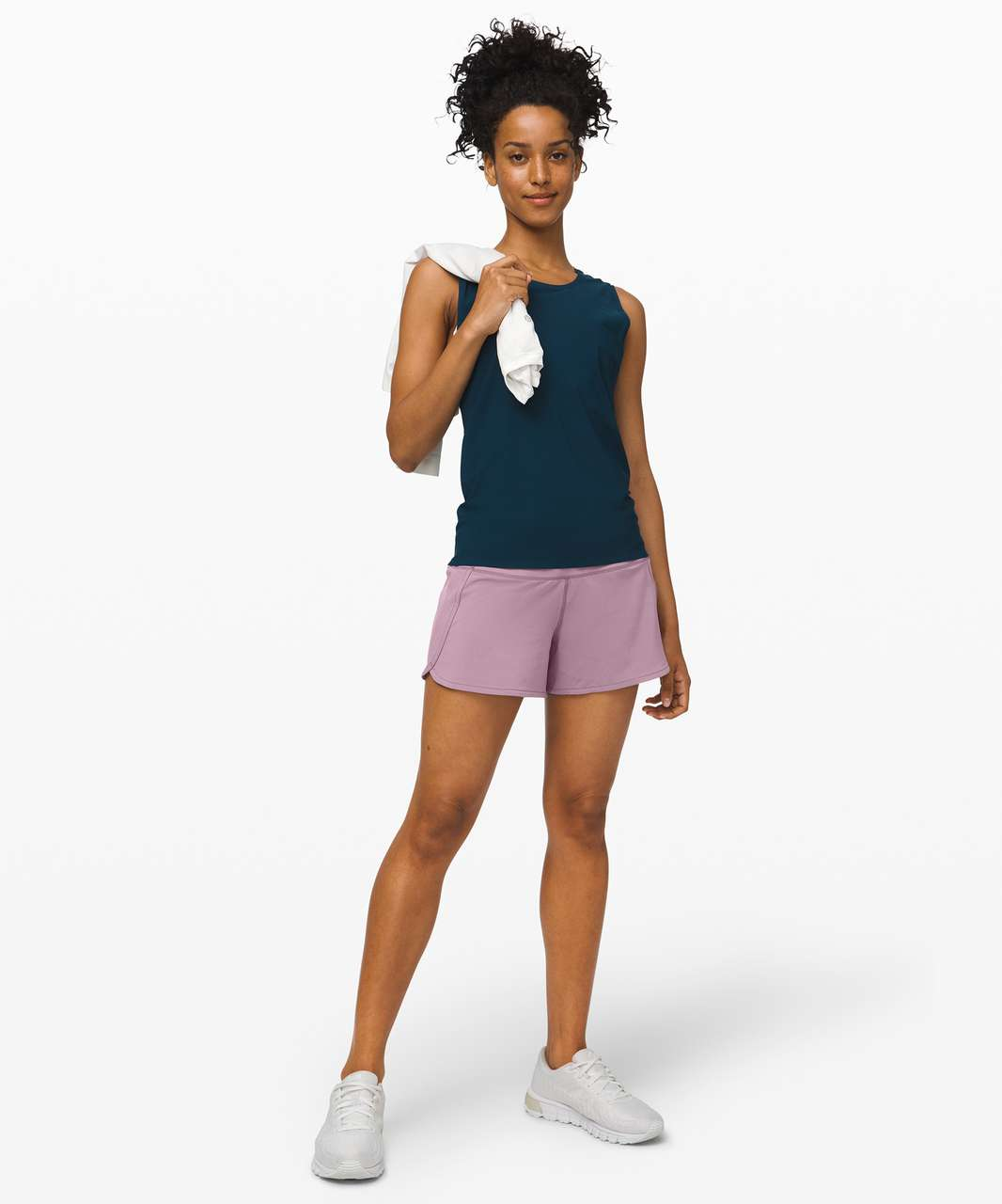 """Lululemon Run Times Short II *4"""" - Frosted Mulberry"""