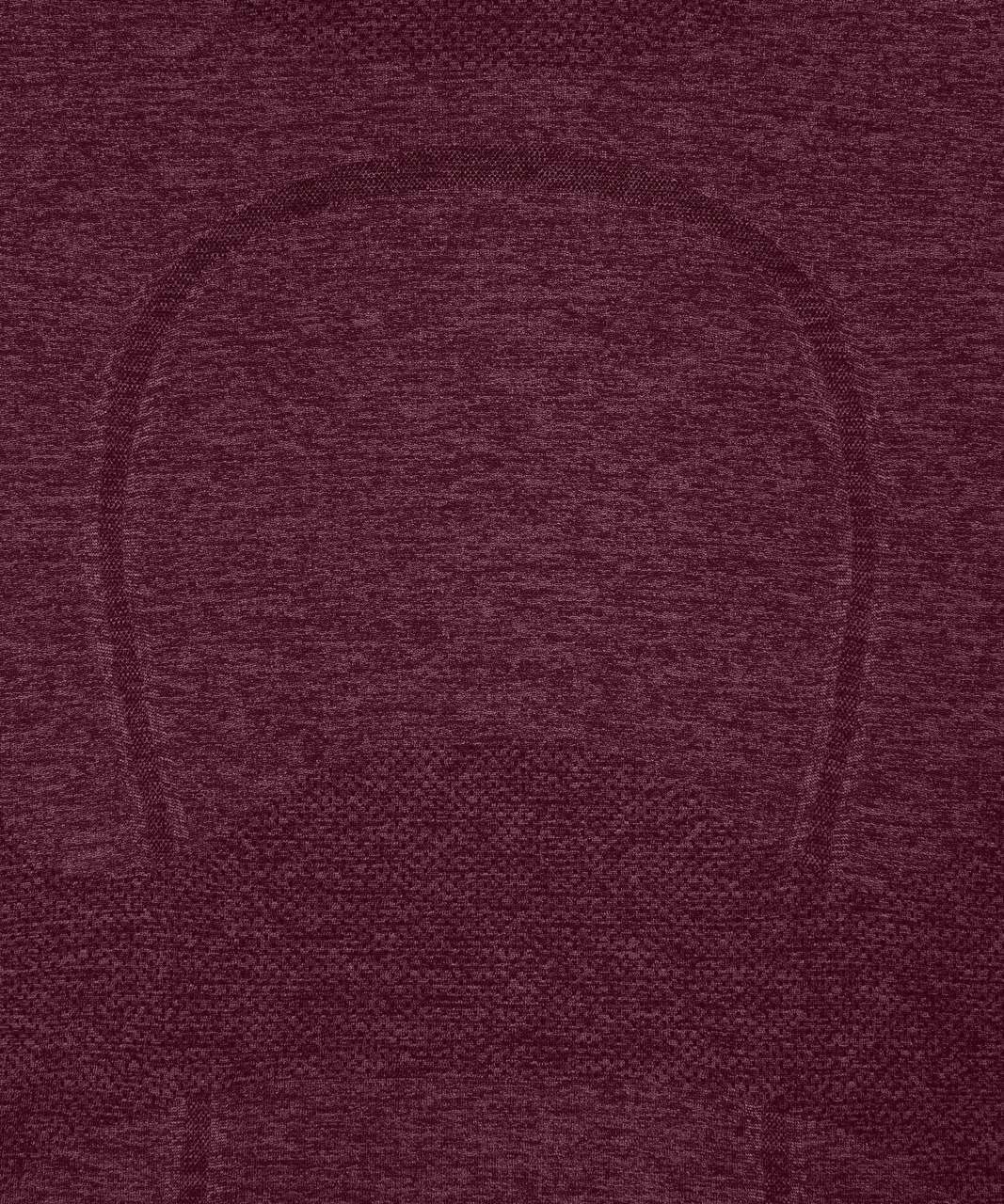 Lululemon Swiftly Tech Long Sleeve Crew - Dark Adobe / Misty Merlot