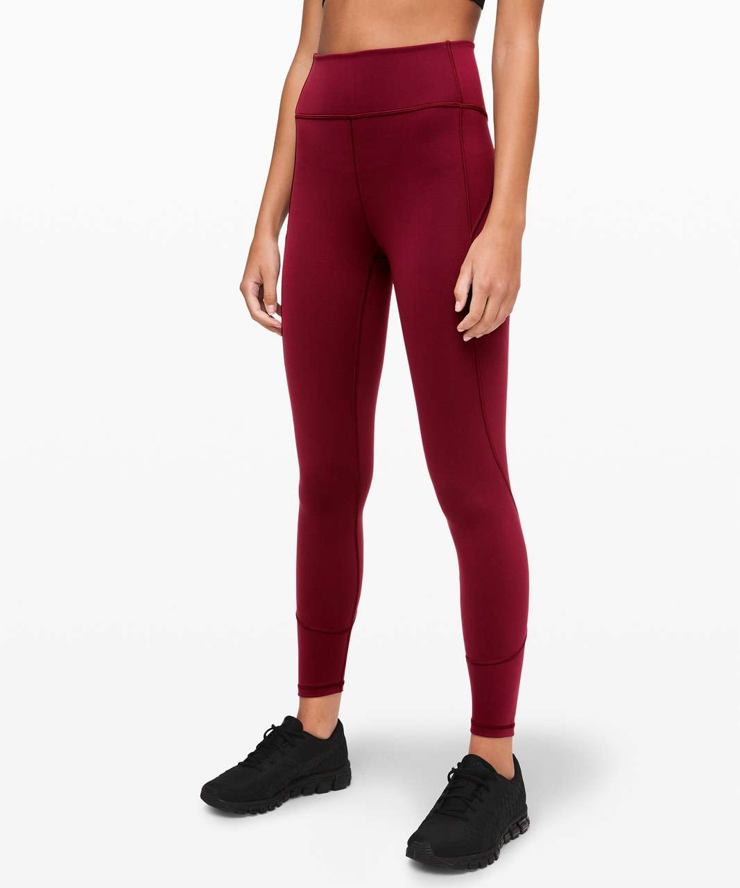 """Lululemon In Movement Tight 25"""" *Everlux - Deep Rouge"""