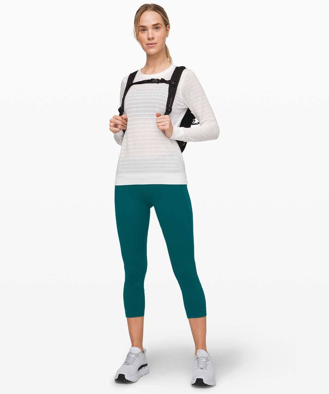 """Lululemon Pace Rival Crop *Full-On Luxtreme 22"""" - Emerald"""