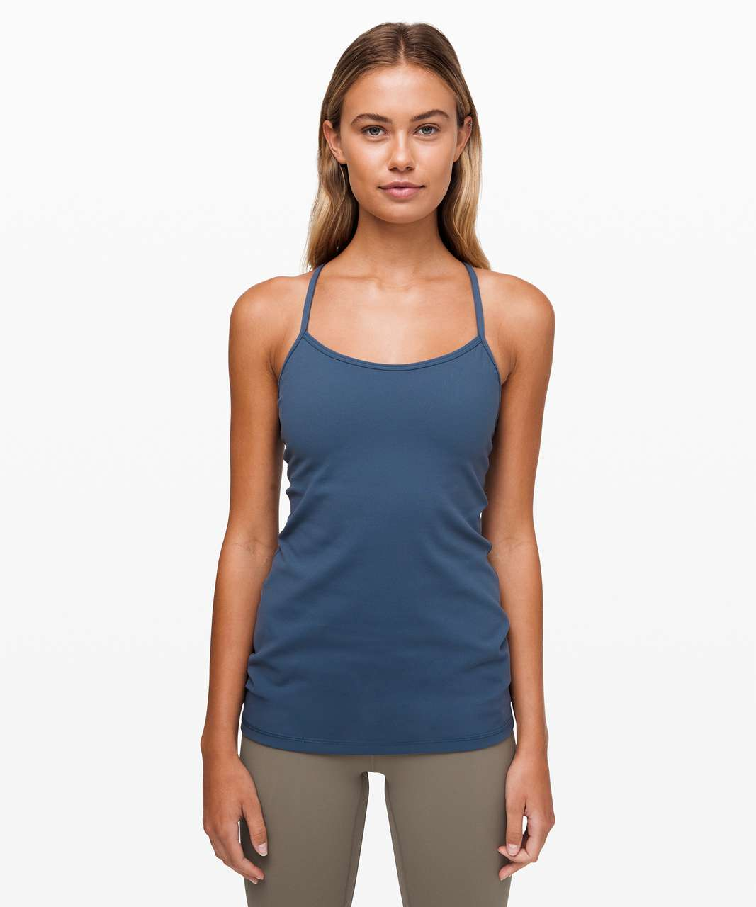 Lululemon Power Y Tank *Luon - Code Blue