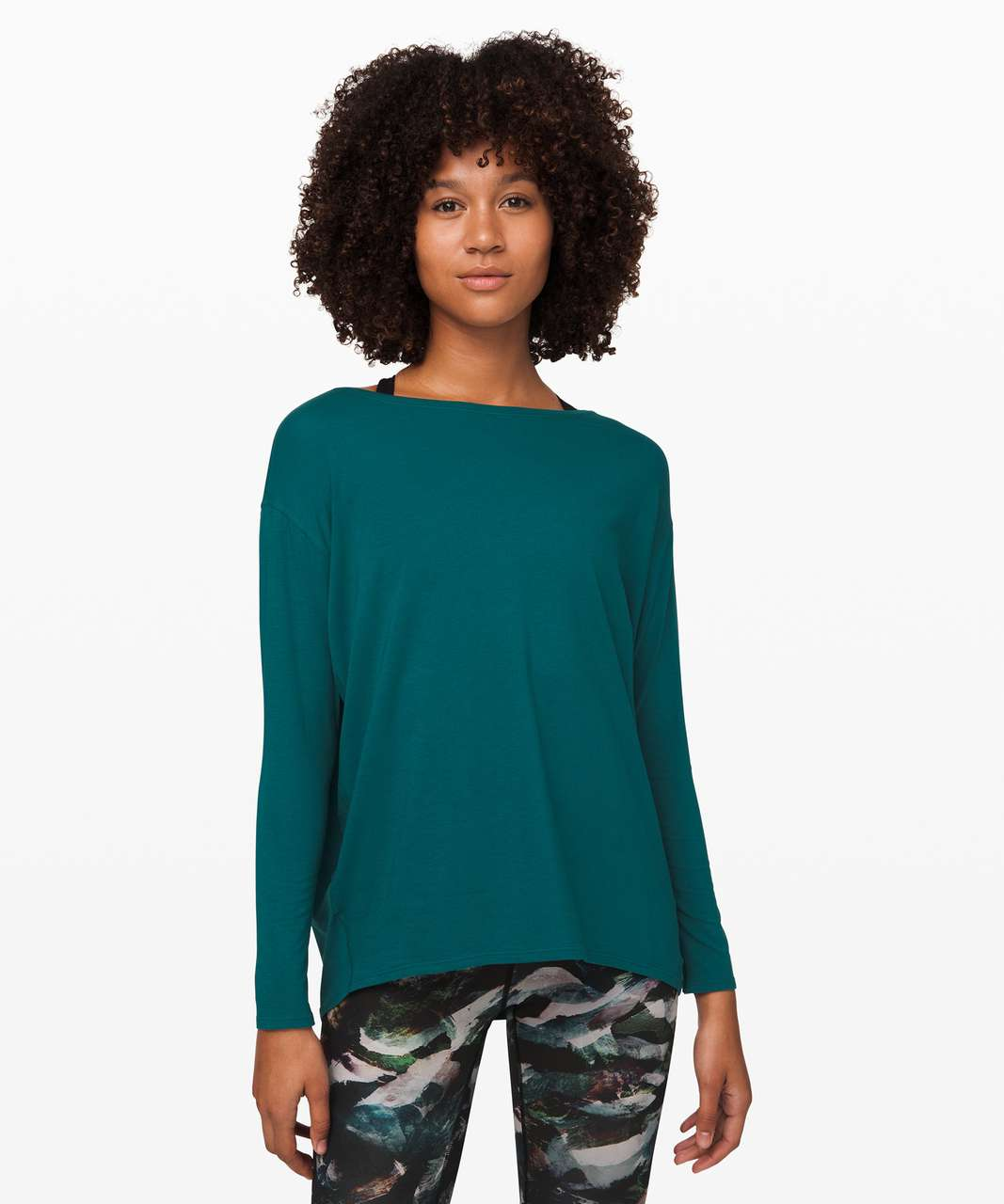 Lululemon Back In Action Long Sleeve - Emerald