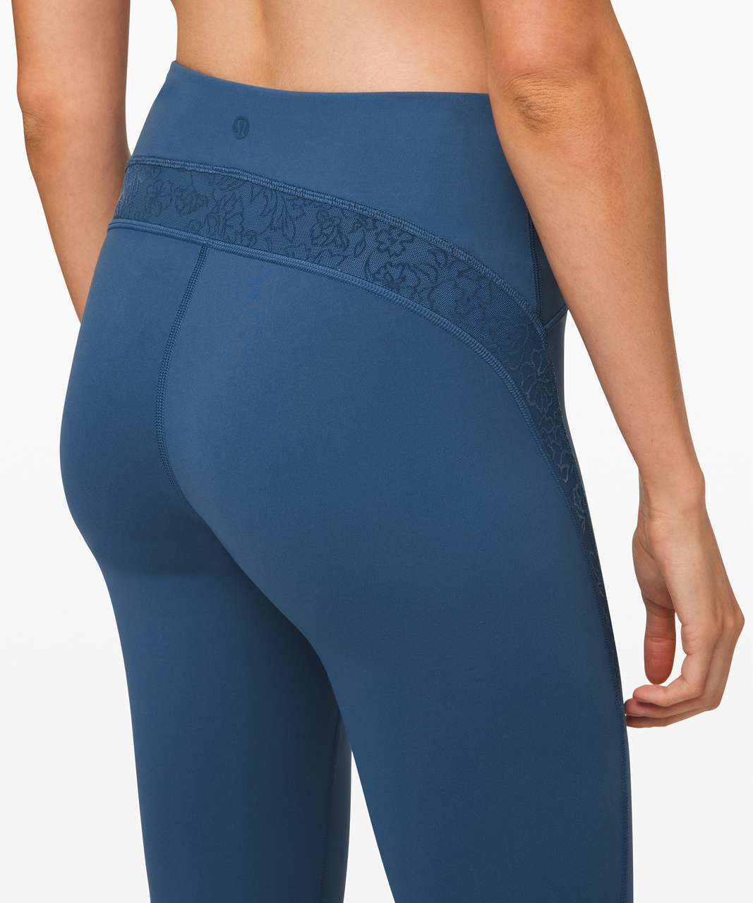 "Lululemon Wunder Under Crop High-Rise 21"" *Flocked Everlux - Code Blue"