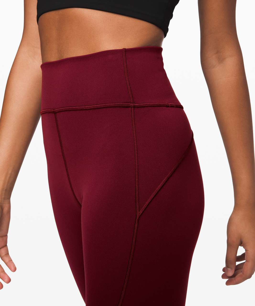 """Lululemon In Movement Tight 28"""" *Everlux - Deep Rouge"""