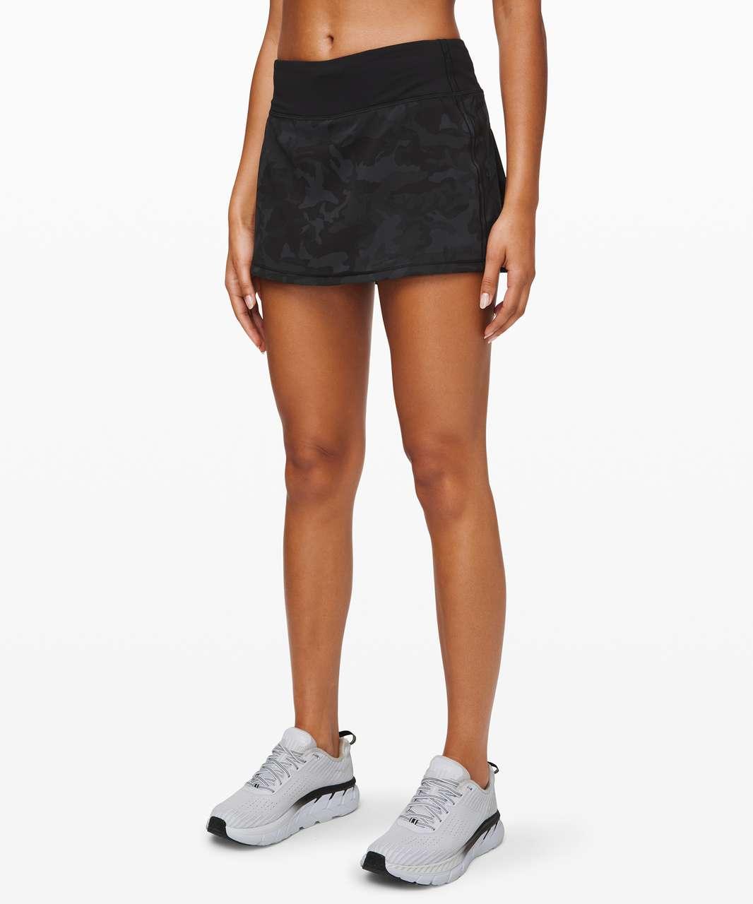 "Lululemon Pace Rival Skirt (Regular) *No Panels 13"" - Incognito Camo Multi Grey / Black"
