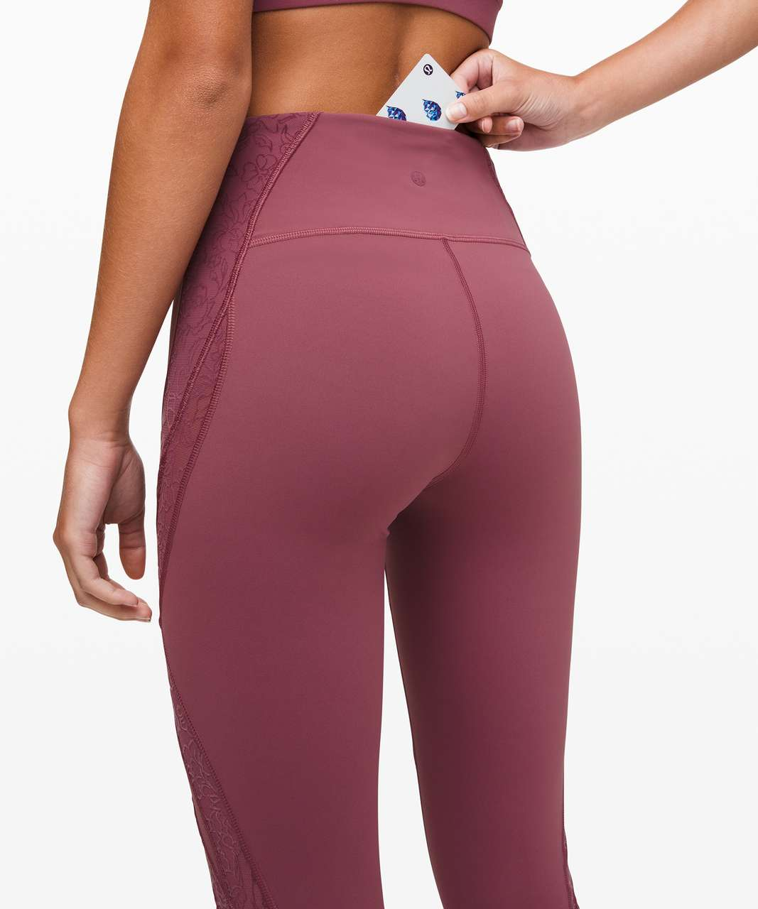 "Lululemon Wunder Under High-Rise Tight* Flocked 28"" - Plumful"