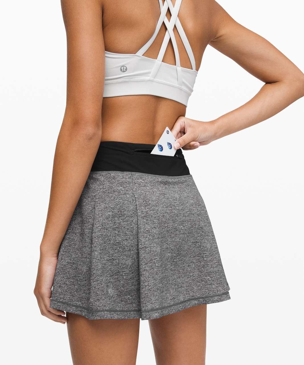 "Lululemon Pace Rival Skirt (Tall) *No Panels 15"" - Heather Lux Multi Black / Black"