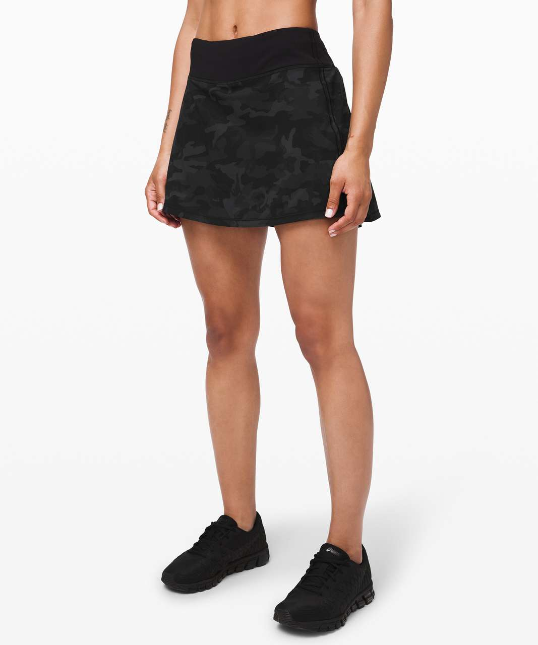 "Lululemon Pace Rival Skirt (Tall) *No Panels 15"" - Incognito Camo Multi Grey / Black"