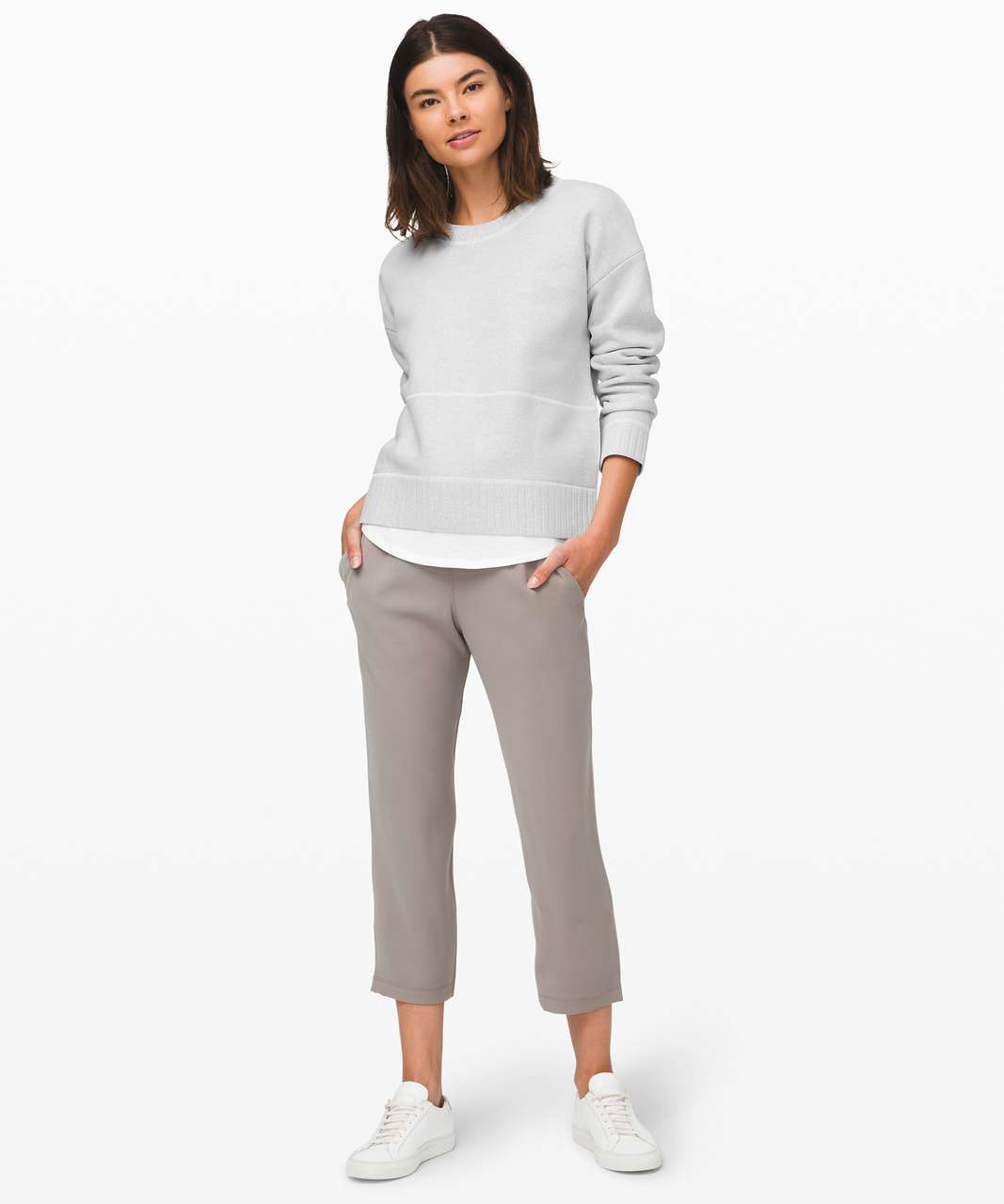 """Lululemon On the Fly Crop *Woven 23"""" - Carbon Dust"""